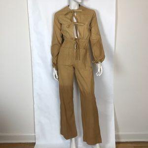 Vintage 70s tan ombré boiler suit coveralls XS
